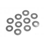 Ocelové podložky 3x6x0.3mm  (10)