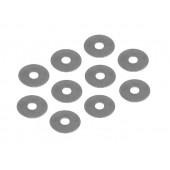 Ocelová podložka 6x18x0.2mm  (10ks)