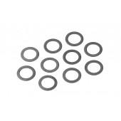 Ocelové podložky 7x10x0.2mm  (10ks)
