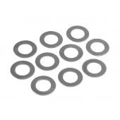 Ocelové podložky 7x10x0.3mm  (10ks)