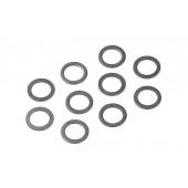 Ocelové podložky 7x10x0.5mm  (10ks)
