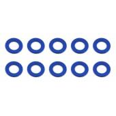 Vymezovací podložky 3x5.5x0.5mm, modré alu, 10 ks.