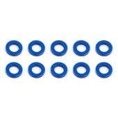 Vymezovací podložky 3x5.5x1.0mm, modré alu, 10 ks.