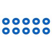 Vymezovací podložky 3x7,8x0,5mm, modré alu, 10 ks.
