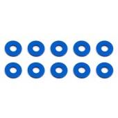 Vymezovací podložky 3x7,8x1,0mm, modré alu, 10 ks.