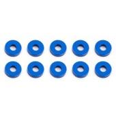 Bulkhead podložky 3x7,8x2,0mm, modré alu, 10 ks.