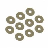 Ocelové podložky 3.6 x 12 x 0.1mm