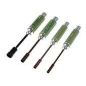 Nástrčkové klíče - metrické - ALU verze SADA: 4.5 5.5 7.0 & 12.0 x 100mm - (4)