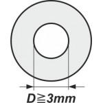 Podložky s vnitřním průměrem od 3mm