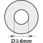 Podložky s vnitřním průměrem od 4mm